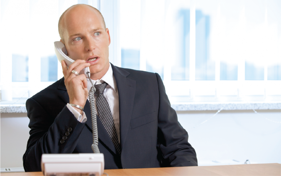 Live Receptionists, live call answering man, telephone receptionist